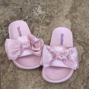 Girls sketchers size 12 bow sandals